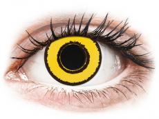 CRAZY LENS - Yellow Twilight - Ei-Dioptriset (2 gekleurde daglenzen)