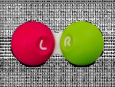 Piilolinssikotelo - pinkki-vihreä