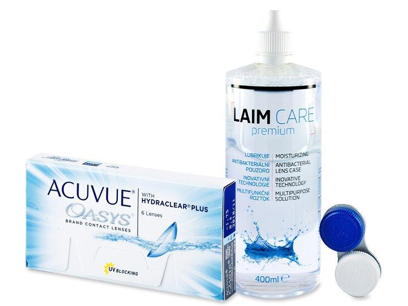 Acuvue Oasys (6kpl) +Laim-Care 400ml