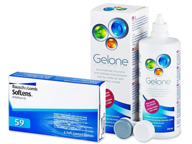 SofLens 59 (6kpl) +Gelone-piilolinssineste 360ml