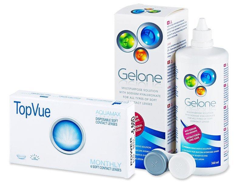 TopVue Monthly (6kpl) +Gelone-piilolinssineste 360ml