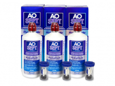 AO SEPT PLUS HydraGlyde -piilolinssineste 3x360 ml